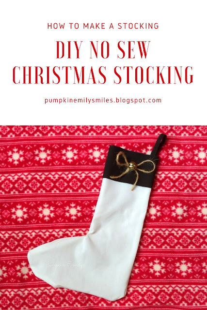 DIY No Sew Christmas Stocking