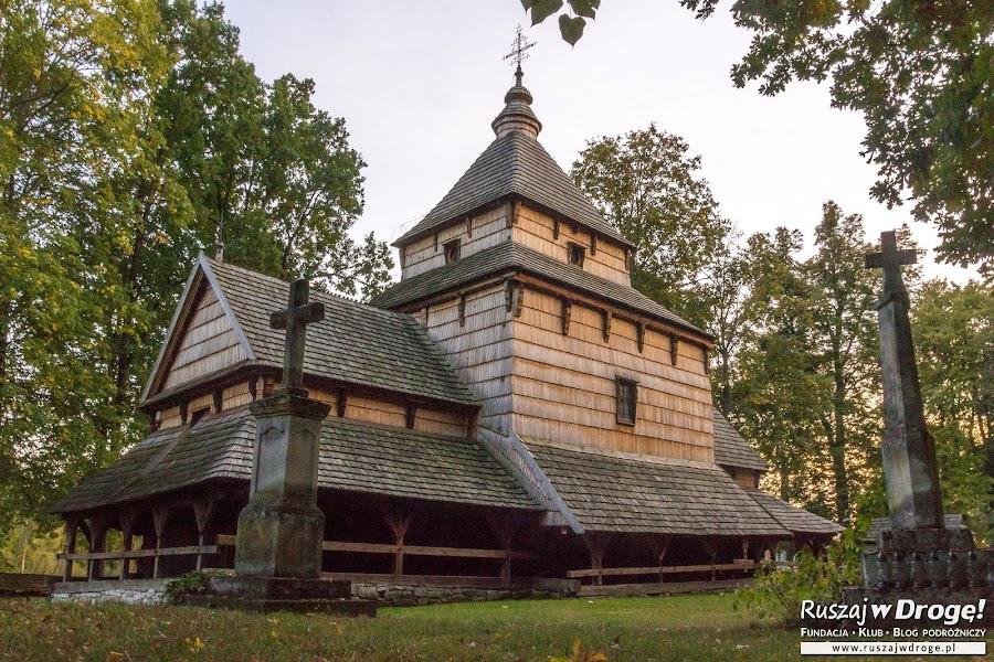 Cerkiew w Radruży cała z drewna