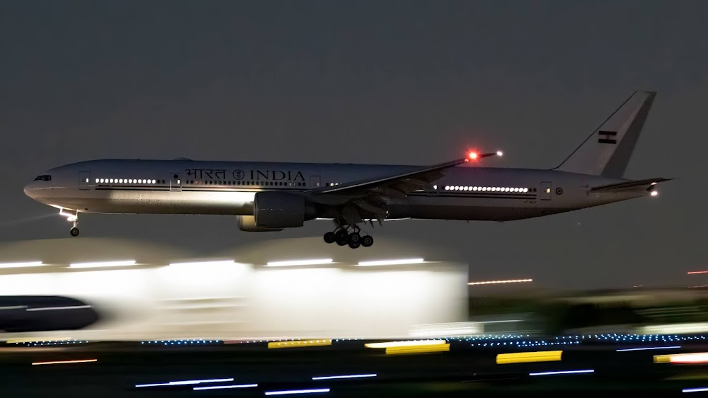 These Heavily Modded B777-300ER, India's Most Secure Transport Aircraft Takes-Off Into The Night