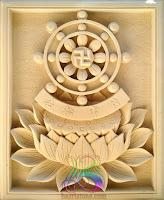 logo roda dharma dari batu alam