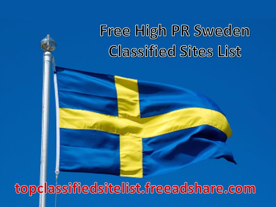 Top 60 Sweden Classified Sites List 2018   100 Best Free
