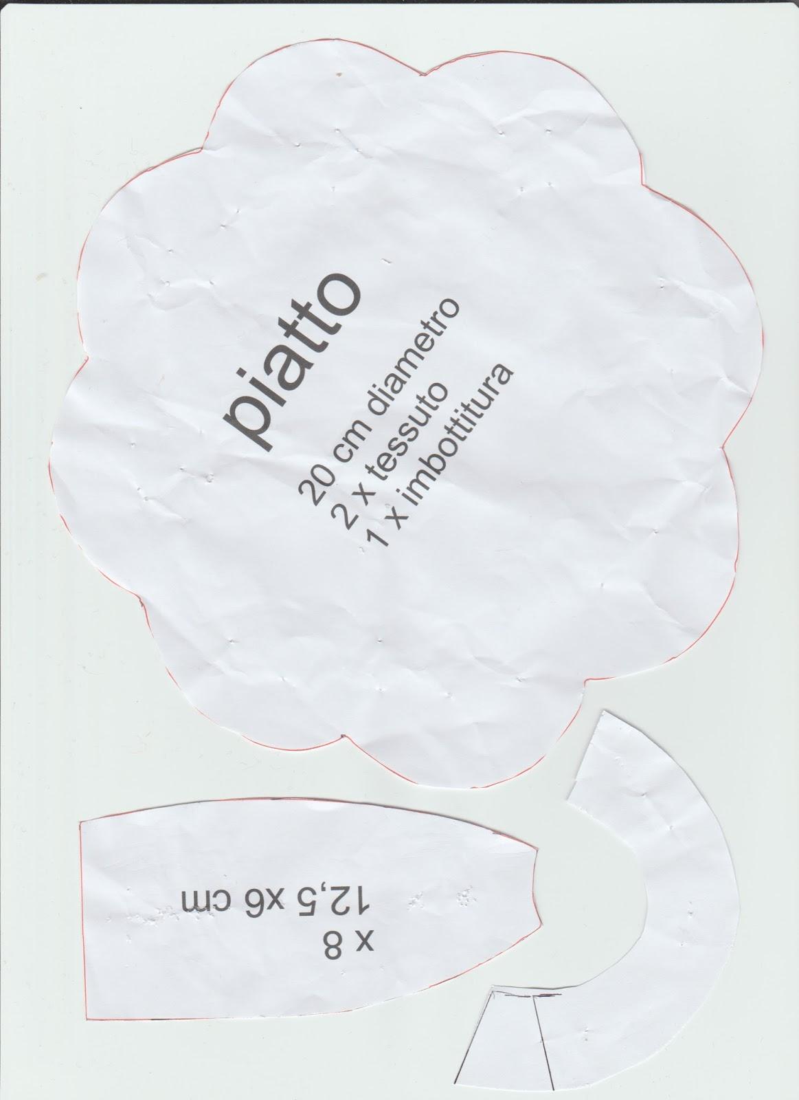 stoffa cartamodello tazza in stoffa