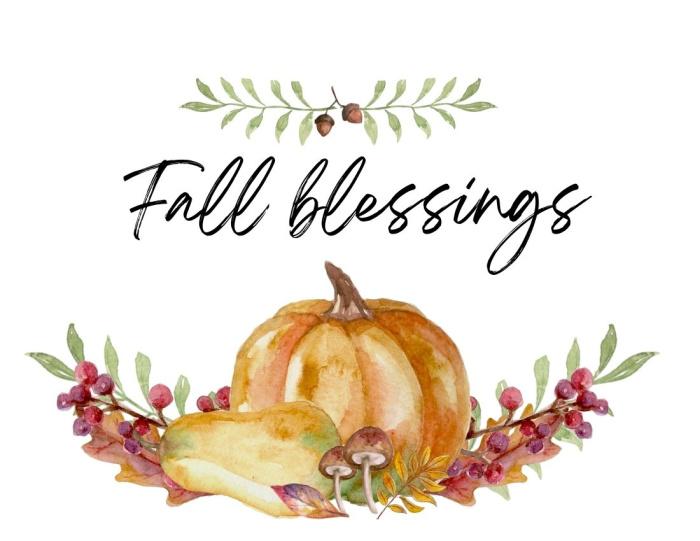 printable Fall blessings