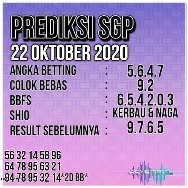 Kode syair Singapore Kamis 22 Oktober 2020 151