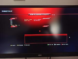 update BIOS Biostar