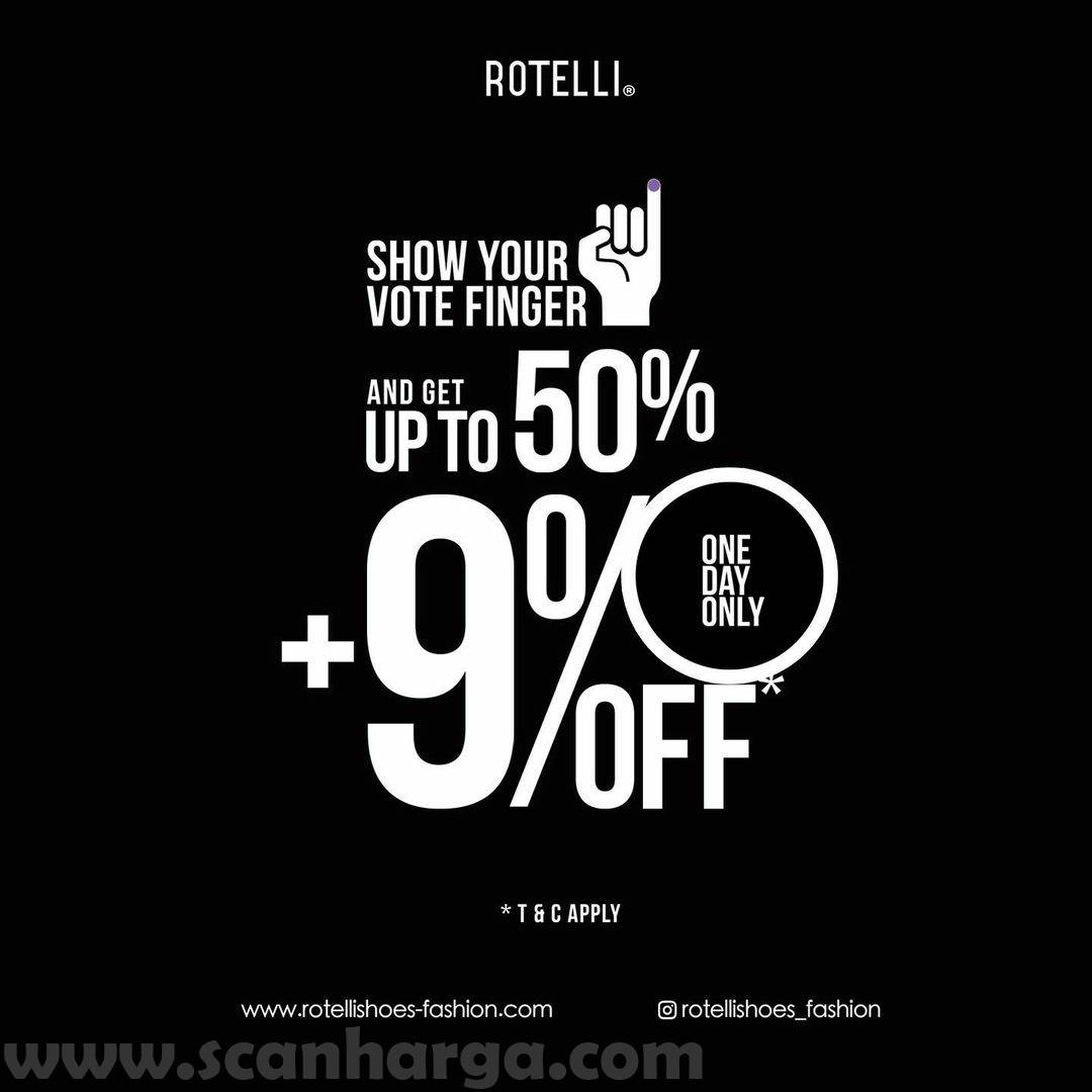 Promo ROTELLI Pilkada - Discount up to 50% + 9%