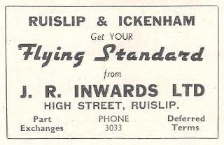 J R Inwards Ltd, High Street, Ruislip advert from Autocar 30 April 1937