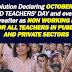 A resolution declaring October 5 as a non working day for teachers
