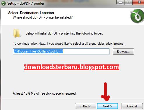 Cara Instal DoPDF