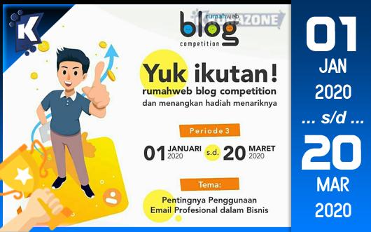 Kompetisi Blog - Rumahweb Periode 3 (2020) Berhadiah Uang Tunai Jutaan Rupiah