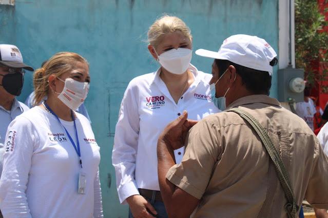 Trabajando hombro con hombro con Verónica Camino, mejoraremos el sur: Alejandrina León