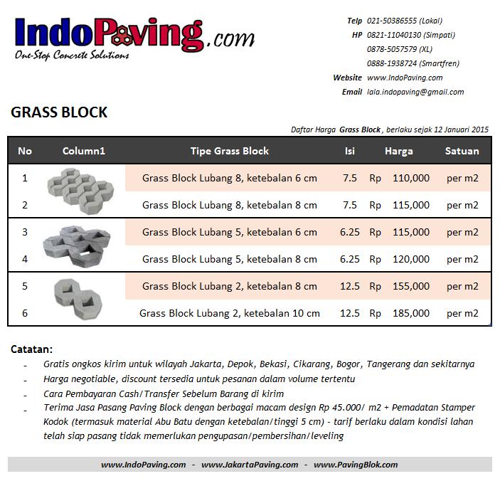 harga, jual, pabrik, murah, grass block, paving rumput, conblock, konblok