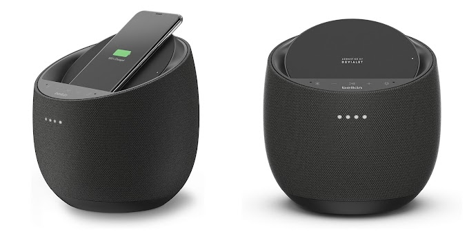 Mobile support, with built-in charger and speaker, what's new in Belkin