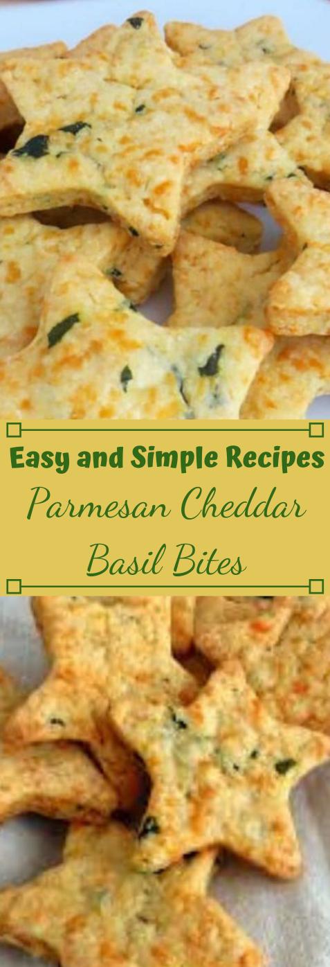 PARMESAN CHEDDAR BASIL BITES #vegetarian #parmesan #basil #easy #breakfast