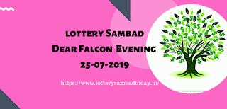 Dear Falcon Evening,Lottery Sambad Night 25-07-2019