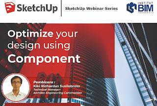 Cara mengoptimalkan modeling di SketchUp dengan komponen