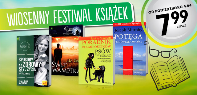 Wiosenny festiwal książek w Biedronce od dzisiaj!