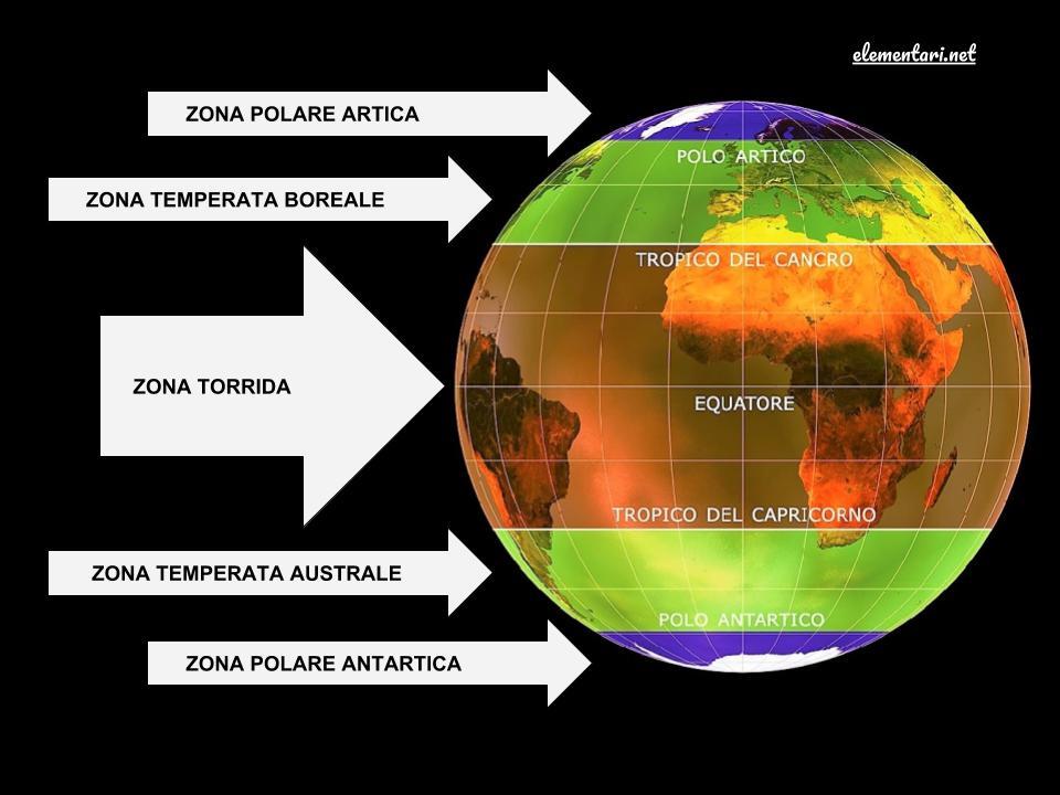 Cartina Mondo Tropici.Le Fasce Climatiche