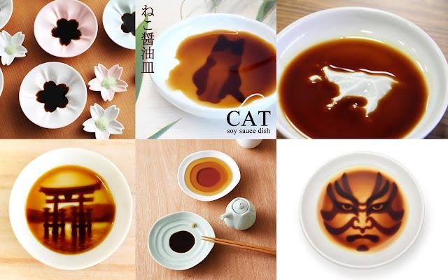 醤油の花が咲く?猫が現れる?醤油を入れたくなる面白い小皿7つ【d】
