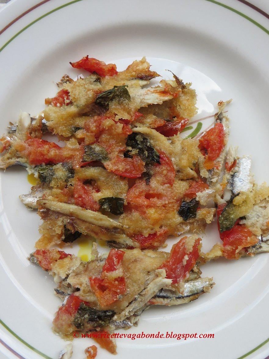 Ricette Vagabonde Alici Gratinate Con Pomodoro E Basilico Come
