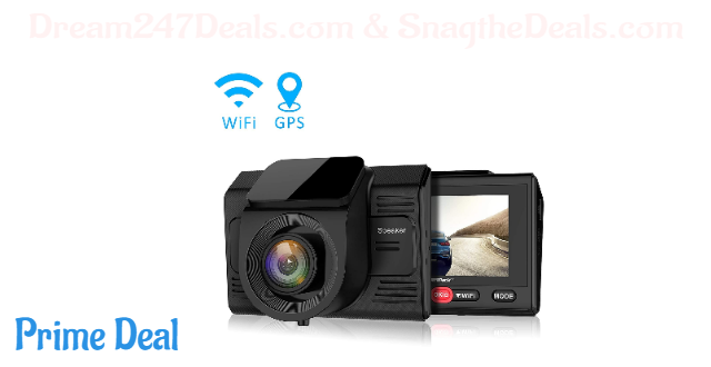 60%OFF Dash Cam with GPS Logger and Wifi Full HD 1080P Car/Vehicle Driving Video Camera