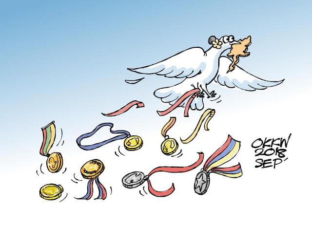 ကာတြန္း OKKW – Freedom from Medals