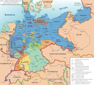 Allemagne de Weimar Carte