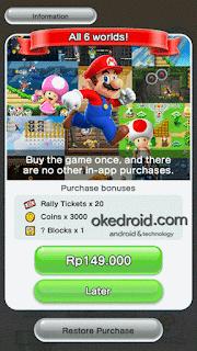 Sekali bayar untuk menikmati semua fitur Super Mario Run