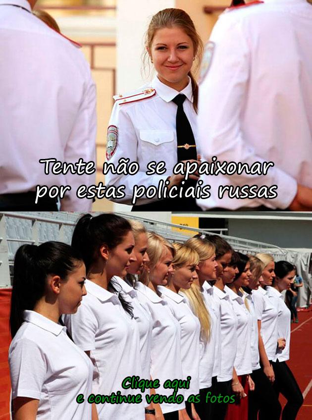 TENTE NÃO SE APAIXONAR POR ESTAS POLICIAS RUSSAS