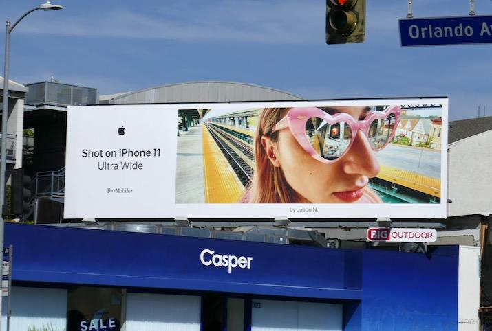 Shot on iPhone 11 Ultra Wide Jason N billboard