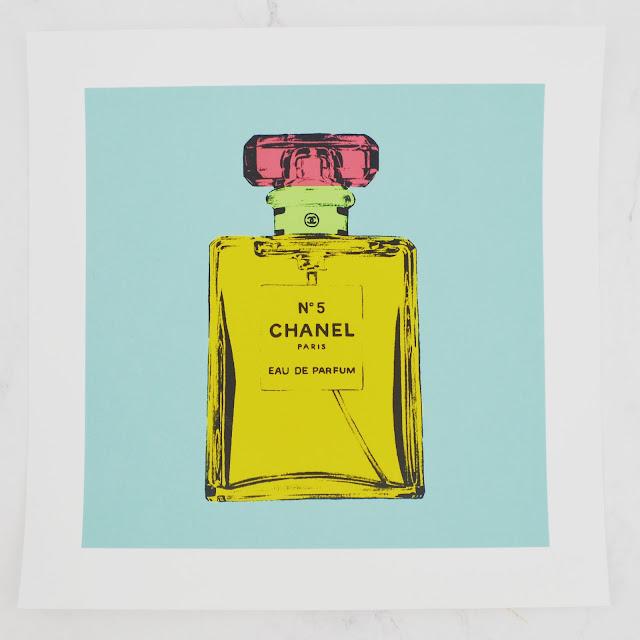 Lovelaughslipstick blog - BeArty Chanel No.2 Print Poster by MarkAshkenazi