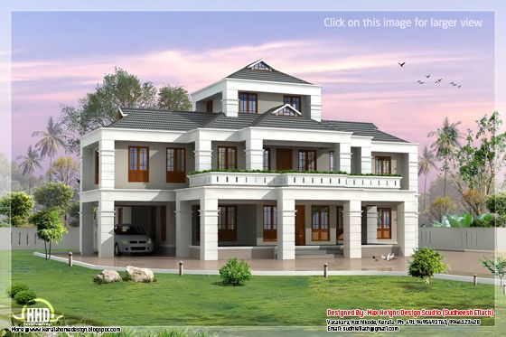 Indian villa elevation