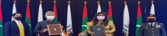 India, Maldives Sign  Million Defence Agreement