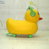 Mobil Mainan Anak Tajimaku BC86 Yellow Duck Ride-on Car