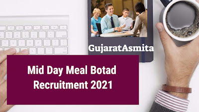 Mid Day Meal Botad Recruitment 2021 For Coordinator