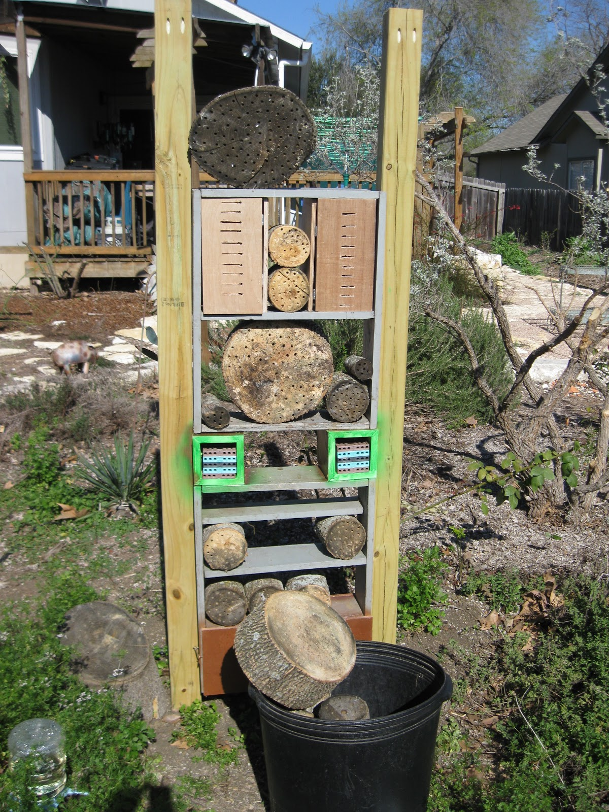 Yard Fanatic Insect Hotel Construction Complete