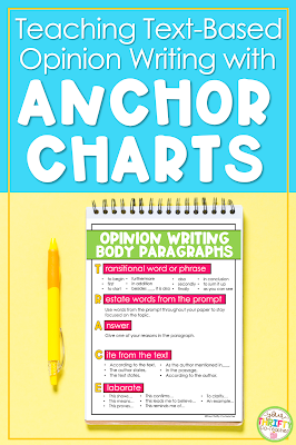 Looking to support your students with their text-based writing? Opinion writing anchor charts make teaching easier & give students the support needed.