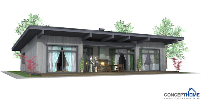 Affordable Home Plans: Affordable Modern House Plan CH61