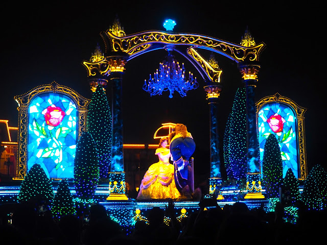 Beauty and the Beast float, Dreamlights parade, Tokyo Disneyland, Japan