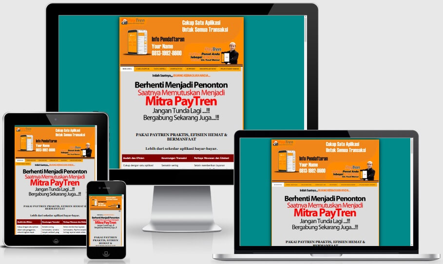 Minisite Paytren Responsive