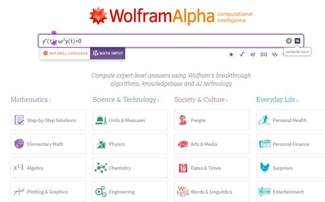 wolframalpha motore computazionale