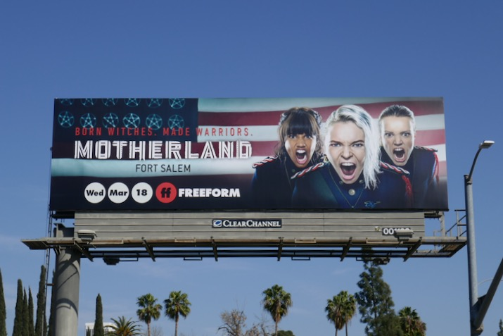 Motherland Fort Salem series launch billboard