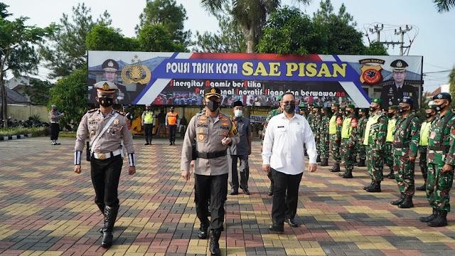 Gelar Pasukan Ops Ketupat Lodaya 2021 di Polres Tasikmalaya Kota.