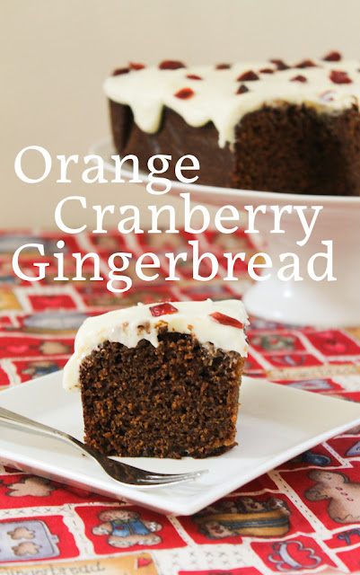 Food Lust People Love: Satisfy your gingerbread cravings this year with my pumped up orange cranberry gingerbread. Cover it with orange cream cheese icing or just a sprinkle of powdered sugar. Gorgeous, either way.