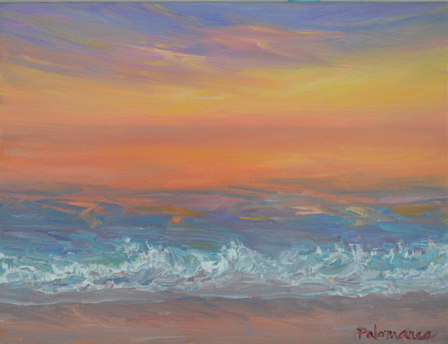 Painting of Vibrant Sunset