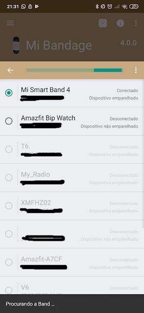 Tutorial mudar língua inglês Xiaomi Mi Band 4