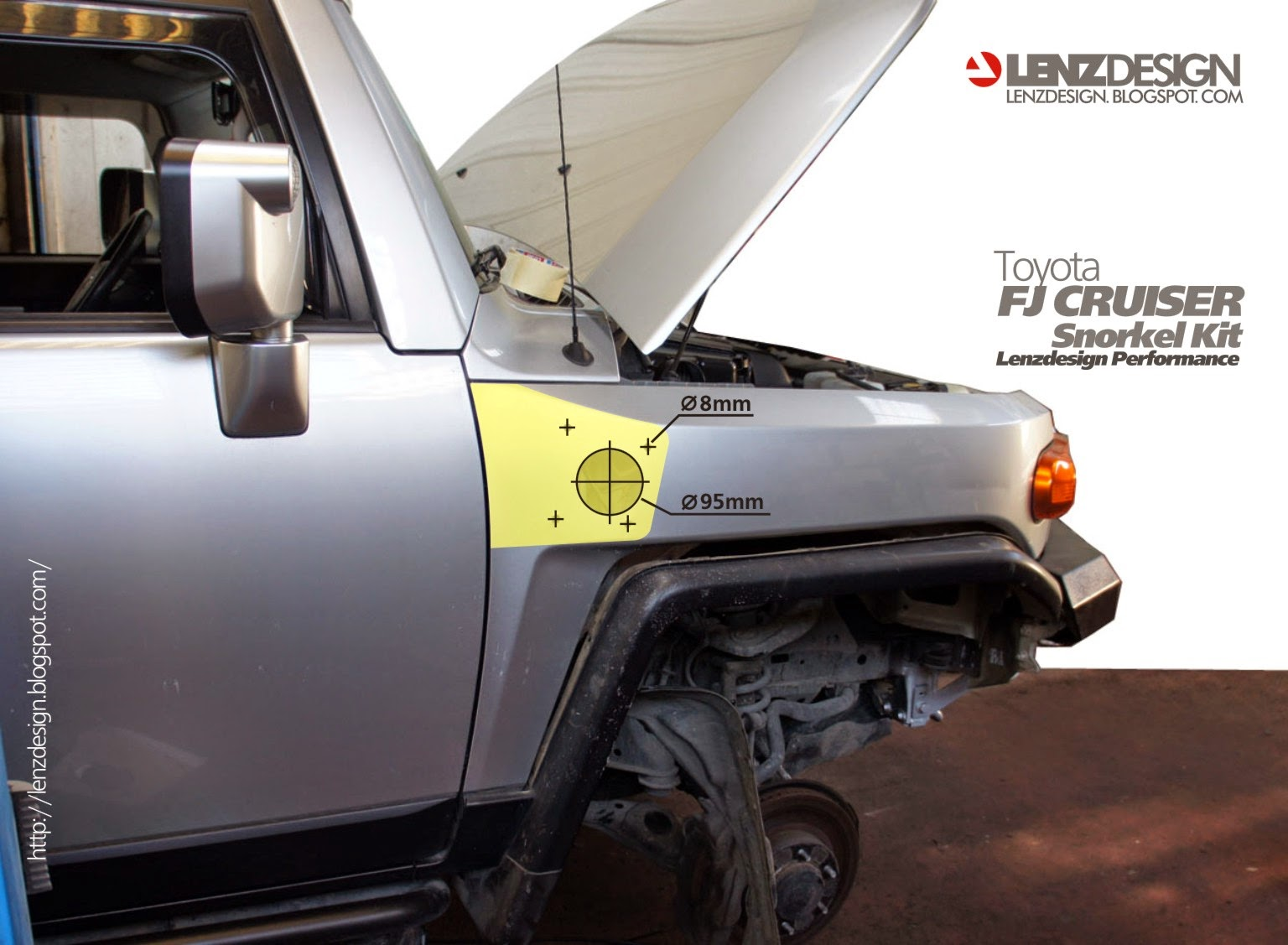 Toyota FJ Cruiser Lenzdesign Snorkel Kit