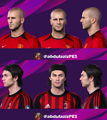 PES 2020 Faces Roy Keane & Maldini by AbdulAziz