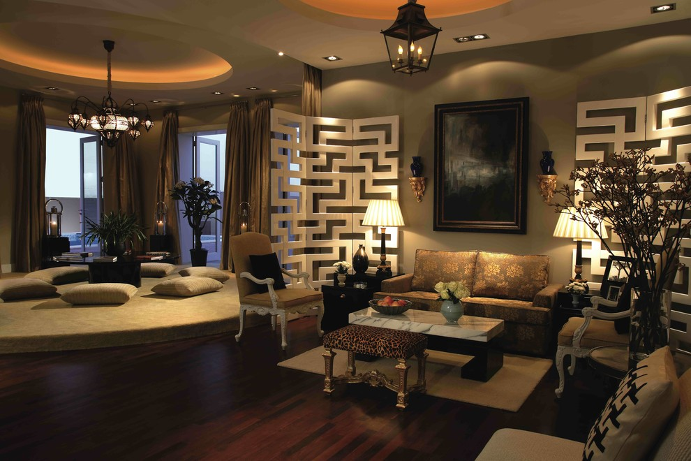 Contemporary Al Khawaneej Villa Living Room By Michael