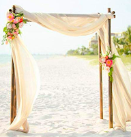 chiffon fabric wedding decor